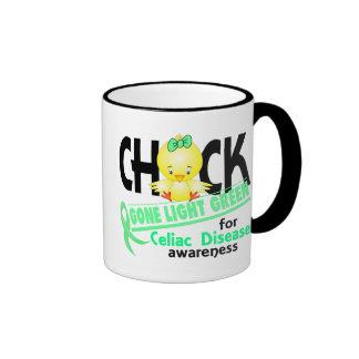Celiac Disease Chick Gone Light Green 2 Ringer Coffee Mug
