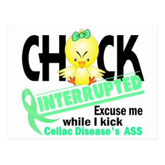 Celiac Disease Chick Interrupted 2 Postcard