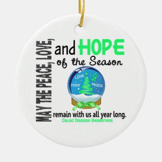 Celiac Disease Christmas 3 Snow Globe Ornaments