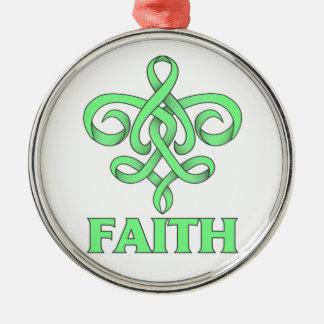 Celiac Disease Faith Fleur de Lis Ribbon Christmas Tree Ornaments
