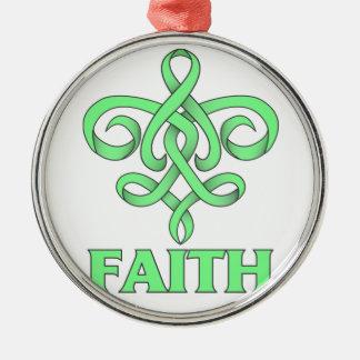 Celiac Disease Faith Fleur de Lis Ribbon Ornaments