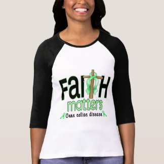 Celiac Disease Faith Matters Cross 1 T-shirt