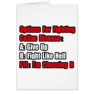 Celiac Disease Fighting Options Card