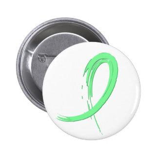 Celiac Disease Light Green Ribbon A4 Pinback Buttons