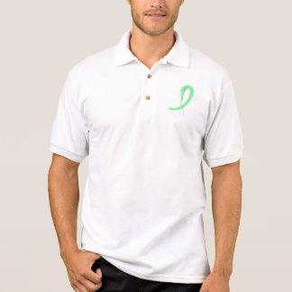 Celiac Disease Light Green Ribbon A4 Polo Shirt