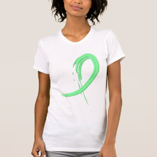 Celiac Disease Light Green Ribbon A4 Tshirts