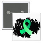 Celiac Disease Light Green Ribbon With Scribble Pinback Buttons