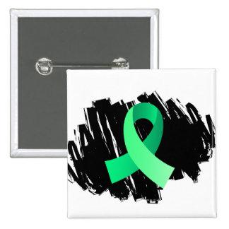 Celiac Disease Light Green Ribbon With Scribble Button