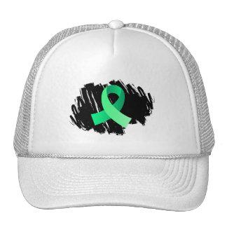 Celiac Disease Light Green Ribbon With Scribble Trucker Hat
