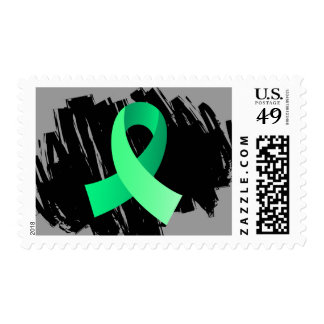 Celiac Disease Light Green Ribbon With Scribble Stamp