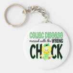 Celiac Disease Messed With The Wrong Chick Basic Round Button Keychain