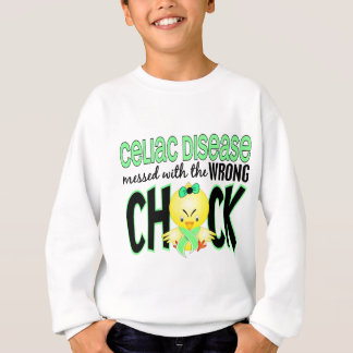 Celiac Disease Messed With The Wrong Chick Sweatshirt