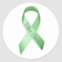 Celiac Disease Ribbon Classic Round Sticker