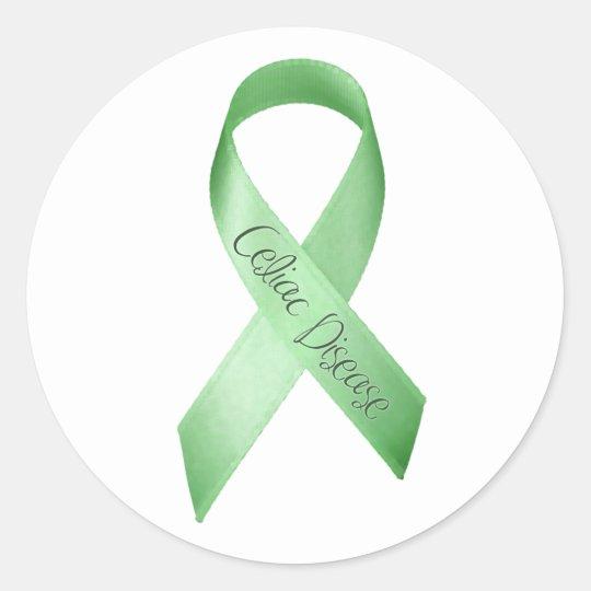Celiac Disease Ribbon Classic Round Sticker