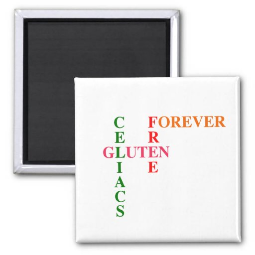 Celiacs Gluten Free Forever 2 Inch Square Magnet
