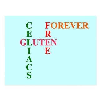 Celiacs Gluten Free Forever Postcard