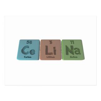 Celina as Cerium Lithium Sodium Postcard