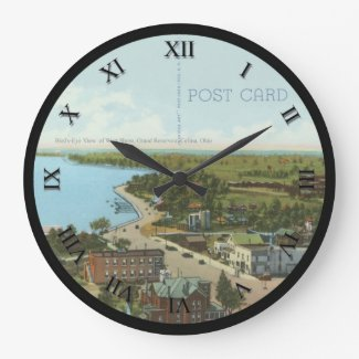 Celina Ohio Post Card Clock - Grand Reservoir