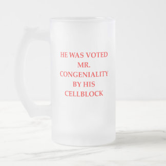 CELL BLOCK FROSTED GLASS BEER MUG