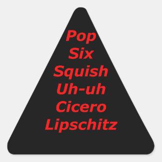 Cell Block Tango Triangle Sticker