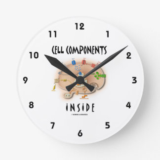 Cell Components Inside Round Wallclocks