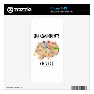 Cell Components Inside iPhone 4S Decal