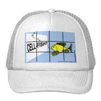 Cell-Fish Hilarious Cell Fish selfish fish cartoon Trucker Hat
