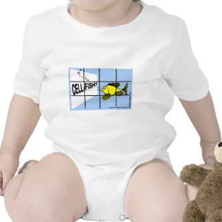 Cell-Fish Hilarious Cell Fish selfish fish cartoon Rompers