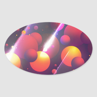 cell oval sticker