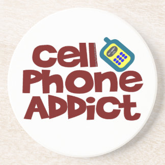 Cell Phone Addict Beverage Coasters