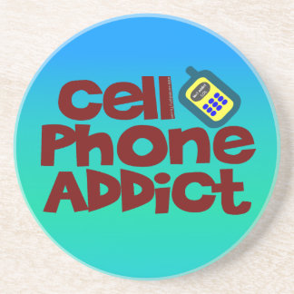 Cell Phone Addict Drink Coasters