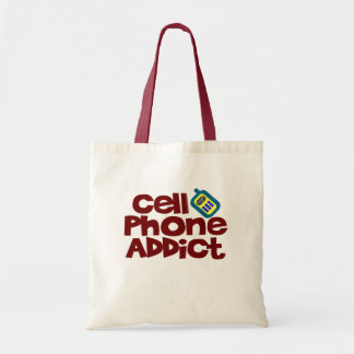 Cell Phone Addict Tote Bag