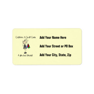 Cell Phone and Credit Cards Custom Address Labels