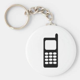 Cell phone basic round button keychain