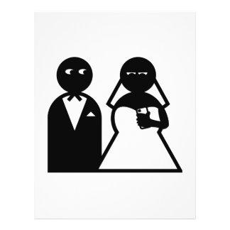 Cell Phone Bride at Wedding Custom Flyer