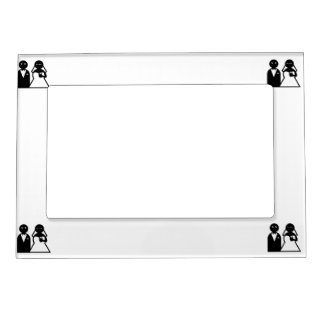 Cell Phone Bride at Wedding Magnetic Photo Frames