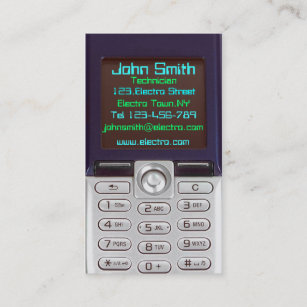 Cell phone business cards zazzle cell phone business card colourmoves
