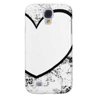 Cell Phone Case, Heart Photo Insert Black & White Galaxy S4 Cover