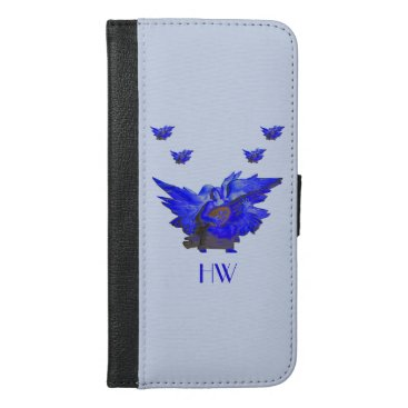 Cell Phone Case With Organizer, Blue Angel Design
