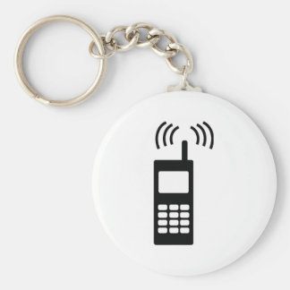 cell phone celly mobil handy basic round button keychain