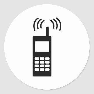 cell phone celly mobil handy classic round sticker