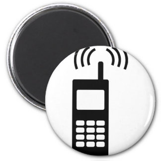 cell phone celly mobil handy 2 inch round magnet