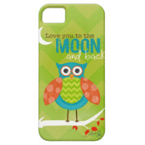 Cell Phone Cover / Love you to the Moon ~ Owl