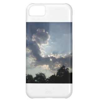 Cell phone cover with picture of clouds