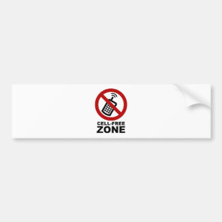 Cell Phone Free zone Bumper Sticker