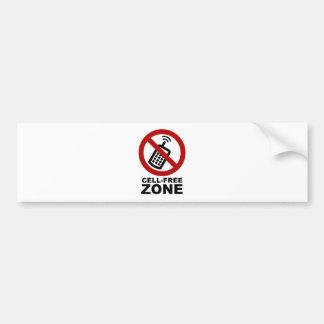 Cell Phone Free zone Bumper Sticker