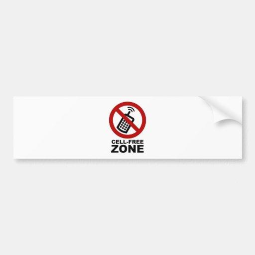 cell phone free zone bumper sticker zazzle. Black Bedroom Furniture Sets. Home Design Ideas