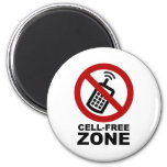 Cell Phone Free zone Fridge Magnet