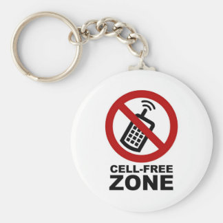 Cell Phone Free zone Keychain