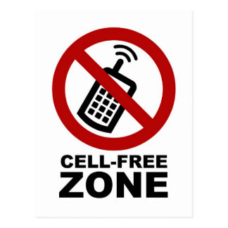 Cell Phone Free zone Postcard